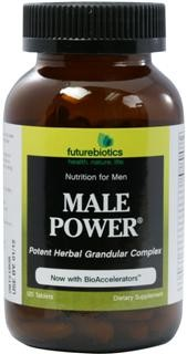 Male Power is a power-packed, concentrated herb and glandular formula designed to help support peak performance and an active lifestyle. It is the ultimate blend of modern nutritional science and traditional herbalism. And, it is potency enhanced with Futurebiotics BioAccelerators for improved nutrient absorption and utilization. It is part of a series of advanced state-of-the-art nutritional supplements designed especially for today's health-conscious man..