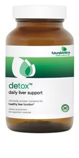 The ingredients in Futurebiotics Detox, including Milk Thistle extract, Picrorhiza kurroa extract, Artichoke leaf and Turmeric extract help support healthy liver function* by helping to protect the liver, stimulating and regenerating liver cells and providing antioxidant support..