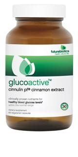 GlucoActive contains Cinnulin PF which may improve insulin sensitivity and may reduce the risk factors for diabetes.  GlucoActive combines Chromium Picolinate,  ActiVin Grape Seed extract and FenuLife, a soluble fiber that helps slow the absorption of glucose into the bloodstream..