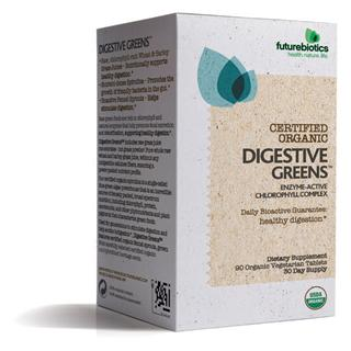 Enzymatically-active chlorophyll complex from certified organic spirulina and certified organic wheat and barley grasses. Naturally-occurring, digestive-supporting volatile oils from certified organic fennel sprout..