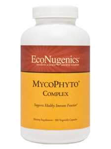 MycoPhyto Complex is a combination of 6 potent varieties of medicinal mushrooms, cultivated on a proprietary mix of immune enhancing herbs and organic brown rice. This unique formulation is designed to provide strong immune system support and activate Natural Killer cells..