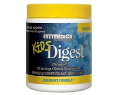 Kids Digest is a mild potency digestion enzyme product for children , which aids in the digestion of all food groups. Its enzymes are all derived from plants. Enzymedica still stands by its commitment to not add fillers..