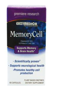 MemoryCell offers a combination of a university proven blend of active botanicals and antioxidants, along with a unique blend of enzymes to support healthy memory and brain function..