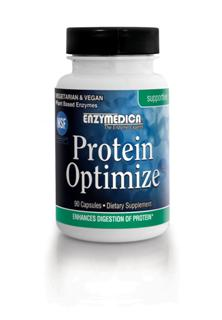Protein Optimize is composed of a proprietary selection of proteolytic enzymes derived from various sources designed to aid in the complete digestion of protein and increase availability of vital amino acids..
