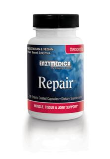 Repair contains the proteolytic enzymes protease, bromelain, papin and catalase to assist with speedy