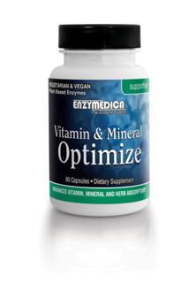 Vitamin & Mineral Optimize contains 5 mg of patented Bioperine and 19 enzymes
