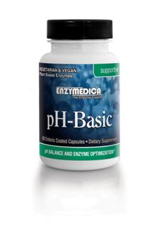 pH-Basic contains a synergistic blend of minerals, enzymes, superfoods, and herbs in an enteric coated capsule designed to bypass the acid environment of the stomach..