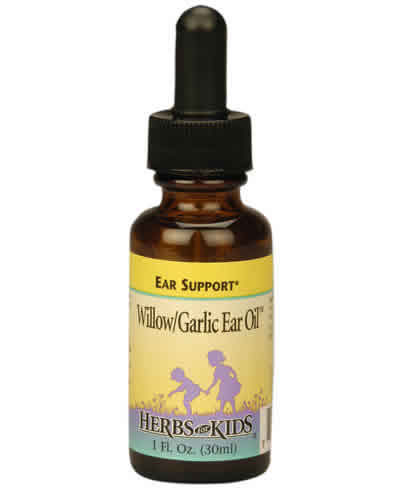 Willow/Garlic Ear Oil (2 fl.oz) is a topical oil that combines garlic and herbs that may help alleviate ear infection or Otitis.