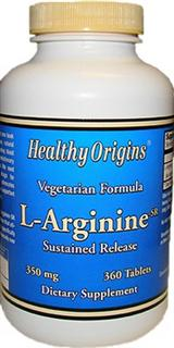Healthy Origins L-Arginine-SR is a unique formulation that utilizes a sustained release delivery system..