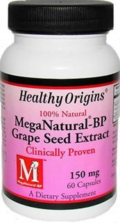 Healthy Origins MegaNatural -BP grape seed extract is a unique formulation that concentrates the isolate clinically proven to benefit blood pressure..
