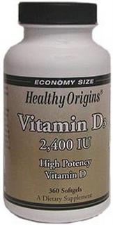 Healthy Origins proudly introduces Vitamin D3 encapsulated in a base of pure cold pressed olive oil for maximum absorption. Additive free..