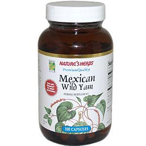 Natures Herbs Mexican Wild Yam is harvested from select farms and plantations in Mexico. Quality, mature tubers (roots) reach their peak size in four to five years and are harvested during the winter to preserve their potency..