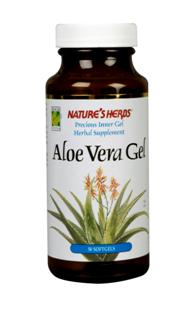 Natures Herbs Aloe Vera Gel softgels contain the precious liquid inner gel of the Aloe Vera plant without preservatives, flavors, or artificial colors. No bitter taste and no refrigeration required..