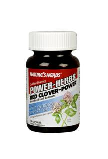 Certified Potency Red Clover-Power is a premium blend of Red Clover Extract (standardized for 4% {16 mg} isoflavones) and Soy Extract (standardized for 40% {24 mg} Isoflavones) for a combined total of 40 mg Isoflavone phyto estrogens per capsule.  .
