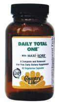 Daily Total One from Country Life is packed with vital vitamins and minerals for optimal daily maintenance..