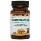 Gluten-Zyme (GlutenZyme) vegetarian capsules contain enzymes essential for the assimilation of gluten-rich foods..