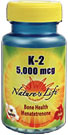 K-2, commonly called Vitamin K or Menatetrenone, from Nature's Life provides your body with 5,000 mcg for optimal bone health..