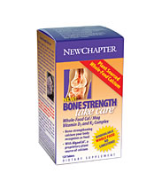 Bone Strength Take Care by New Chapter offers nutrients imperitave to maintaining healthy bones and has been shown to actually increase bone mass in menopausal women..