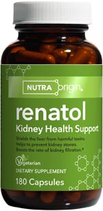 Renatol is designed to protect these organs from harm, by providing herbs that aid in kidney filtration and toxin processing, flush the urinary tract, protect the bladder wall, and maintain normal urinary calcium and oxalate levels..