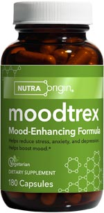 Moodtrex contains nutraceuticals that increase the amount of serotonin in the brain, plus herbs that relieve everyday anxiety and promote a positive outlook..