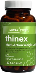 Thinex by NutraOrigin the Multi-Action Weight-Loss Supplement deveolped to help suppress appetite and decrease body fat..