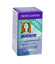 New Chapter's Headache Take Care is a well blended formula of traditional herbs which naturally alleviate aches, pains, and discomforts of the common headache..