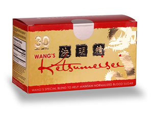Wang's Ketsumeisei is a unique blend of herb extracts formulated to help maintain normalized blood sugar levels and a healthy circulatory system..