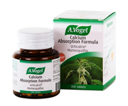 Special homeopathic triturations of mineral salts and Stinging Nettle in A. Vogel Calcium Absorption Formula help the absorption of calcium in our diet as well as its metabolism and assimilation..