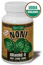 Immune D Capsules - USDA Certified Organic, 100% Pure Noni Leaf. The most potent Noni available, made from the leaves of the Noni plant. No added binders or flowing agents. 100% Pure!.