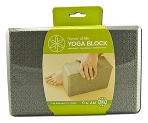 Yoga Block. Useful to safely provide support and help modify poses..