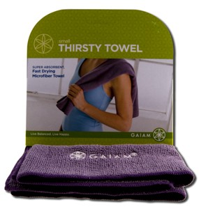 Made from microfiber, the towel is hypo-allergenic, non-permeable and dries quickly..