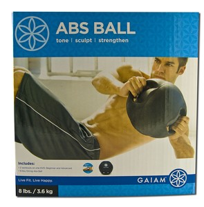Contains: One Abs Ball (8 lb Nonslip-surface ball has 2 sure-grip handles) plus The Abs Ball Workout DVD (35 Minutes).