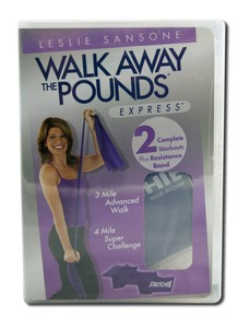 Get in the fast lane to fitness with Leslie Sansone's Walk Away The Pounds Express DVDs. Leslie will help you burn fat and calories and tone your body, right in the comfort of your own home - rain or shine. .