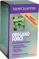Oregano Force from New Chapter 100% Organic Oregano Supercritical Extraction for enhanced Immune Function, Hormonal Support, and more..