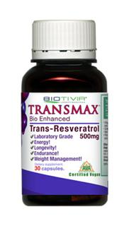 Transmax is the world's original and still best selling 500mg Resveratrol supplement..