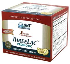 ThreeLac Probiotic contains live friendly flora that may help temporarily rid the body of overactive yeast and fungi..