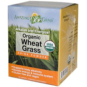 Amazing Grass Organic Wheat Grass Drink Powder are a potent, convenient and affordable way to help achieve your 5 + daily servings of vegetables..