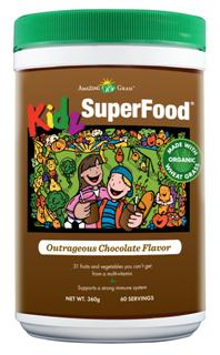 KIDZ Superfood Chocolate delivers a powerful cup of nutrition and flavor your kids are sure to like. One serving of Amazing Grass Superfood for Kidz equals 3 servings of fruits and vegetables,.
