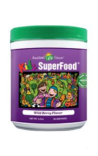 KIDZ Superfood is a nutritional powerhouse blending 32 rainbow colored fruits and vegetables in a delicious berry drink powder..
