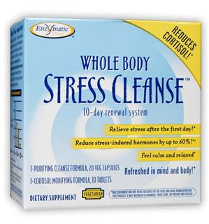 Enzymatic Therapy Whole Body Cleanse, Stress Formula, Cortisol Modifying Formula. 10 day Renewal System Naturally Restores Energy and Wellbeing..