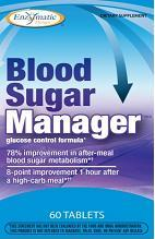 Blood Sugar Manager by Enzymatic Therapy enhances the ability of cells to accept and efficiently convert glucose (sugar) to create healthy energy..