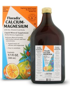 Floradix Calcium-Magnesium with with added Vitamin D and Zinc is ideal for those who need to supplement more calcium into their daily diet..