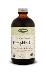 Pumpkin seeds produce a dark green yet excellent tasting oil. .
