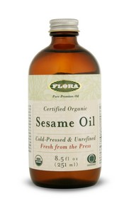 Flora's Sesame Oil is pressed from certified organic sesame seeds (third party certification). .