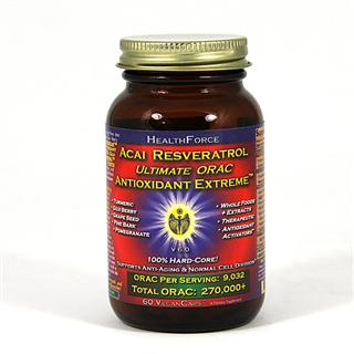 Includes acai, goji berry, pine bark, green tea, mangosteen, strawberry, grape extract and more....