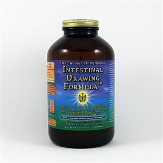 This superior formulation is designed to draw in and absorb poisons from the bowel, allowing you to eliminate them and not reabsorb them - essential to take during a fast to avoid auto intoxication. This new formula adds fibrous bulk without psyllium, which can irritate and cause bloating. HealthForce Intestinal Drawing Formula nourishes, soothes, and lubricates the intestines* as it moves through..