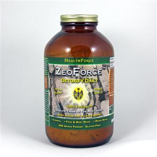 ZeoForce naturally holds a negative charge and will bond with toxins for safe and effective removal*.  It can also be used externally for face & body masques, or added to your bath water for a detoxifying soak..