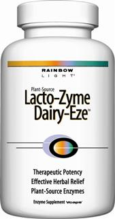Lacto-Zyme Dairy-Eze  Targeted dairy digestion formula for easing discomfort with soothing botanicals*.