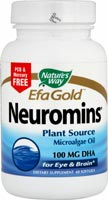 Nature's Way Neuromins DHA is a natural plant source of docosahexaenoic acid (DHA) which is essential to healthy eye and brain function..