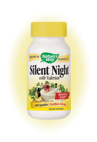 Nature's Way Silent Night contains Valerian, Hops and Scullcap which work together to promote restfulness and decrease anxiety and stress..